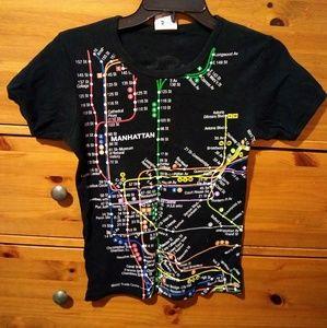 Tops - Nyc Subway t-shirt